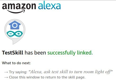 Login is OK and linked skill and Amazon account