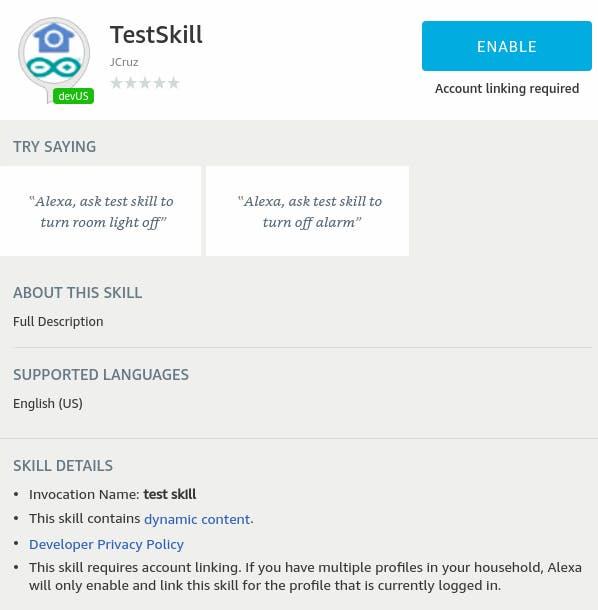 TestSkill details