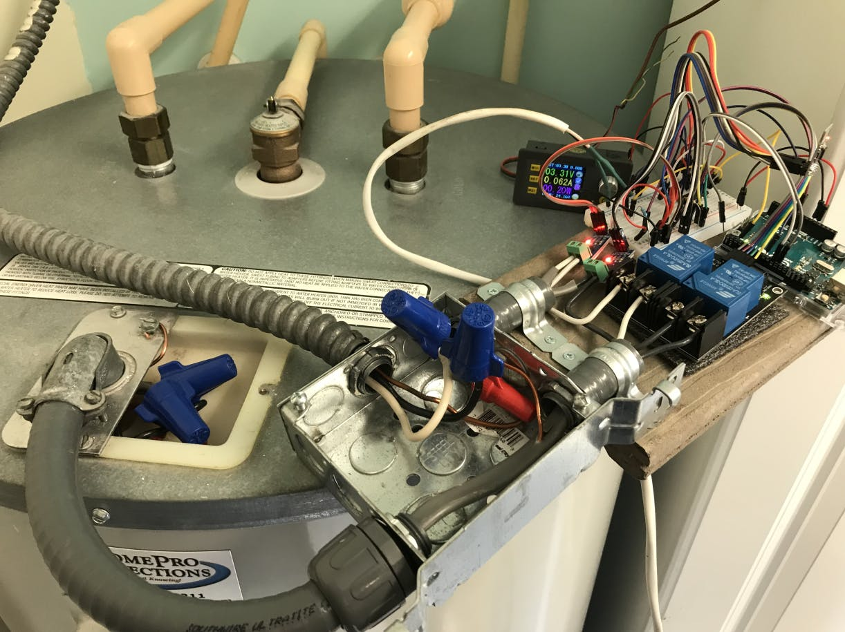 Connect the Output to the Water Heater