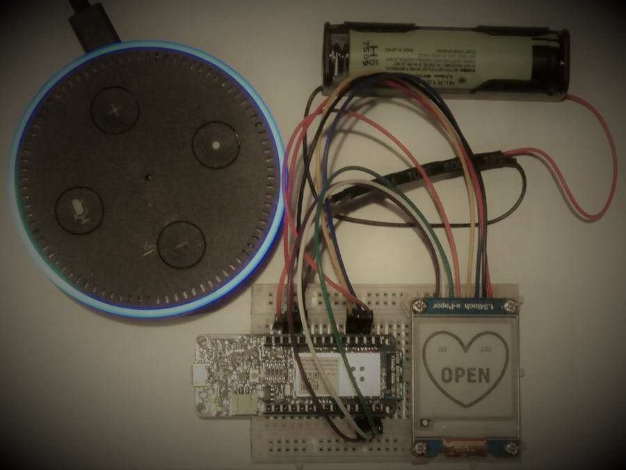 Alexa Controlled Door Sign Demo