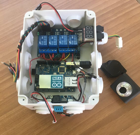 Put controller in a plastic  box