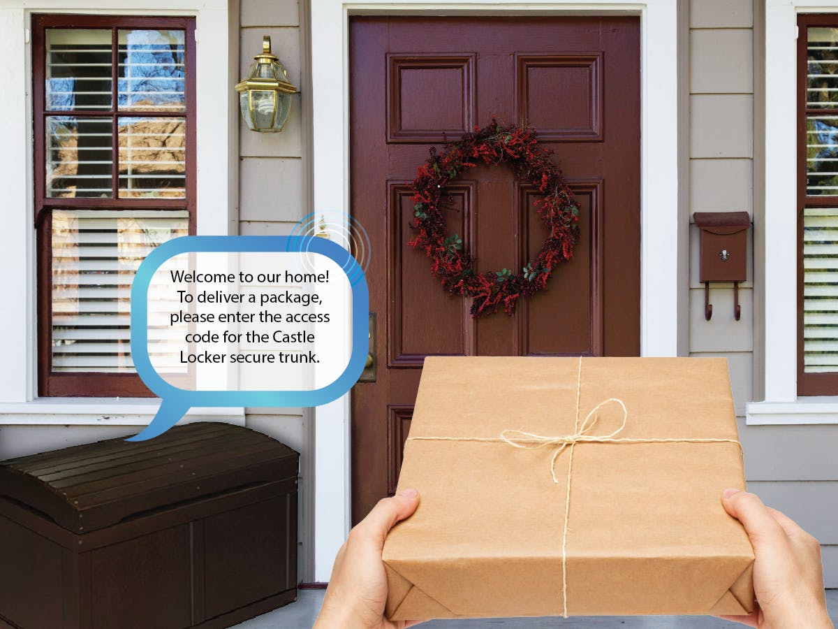 Secure Package Delivery Trunk for Your Front Porch