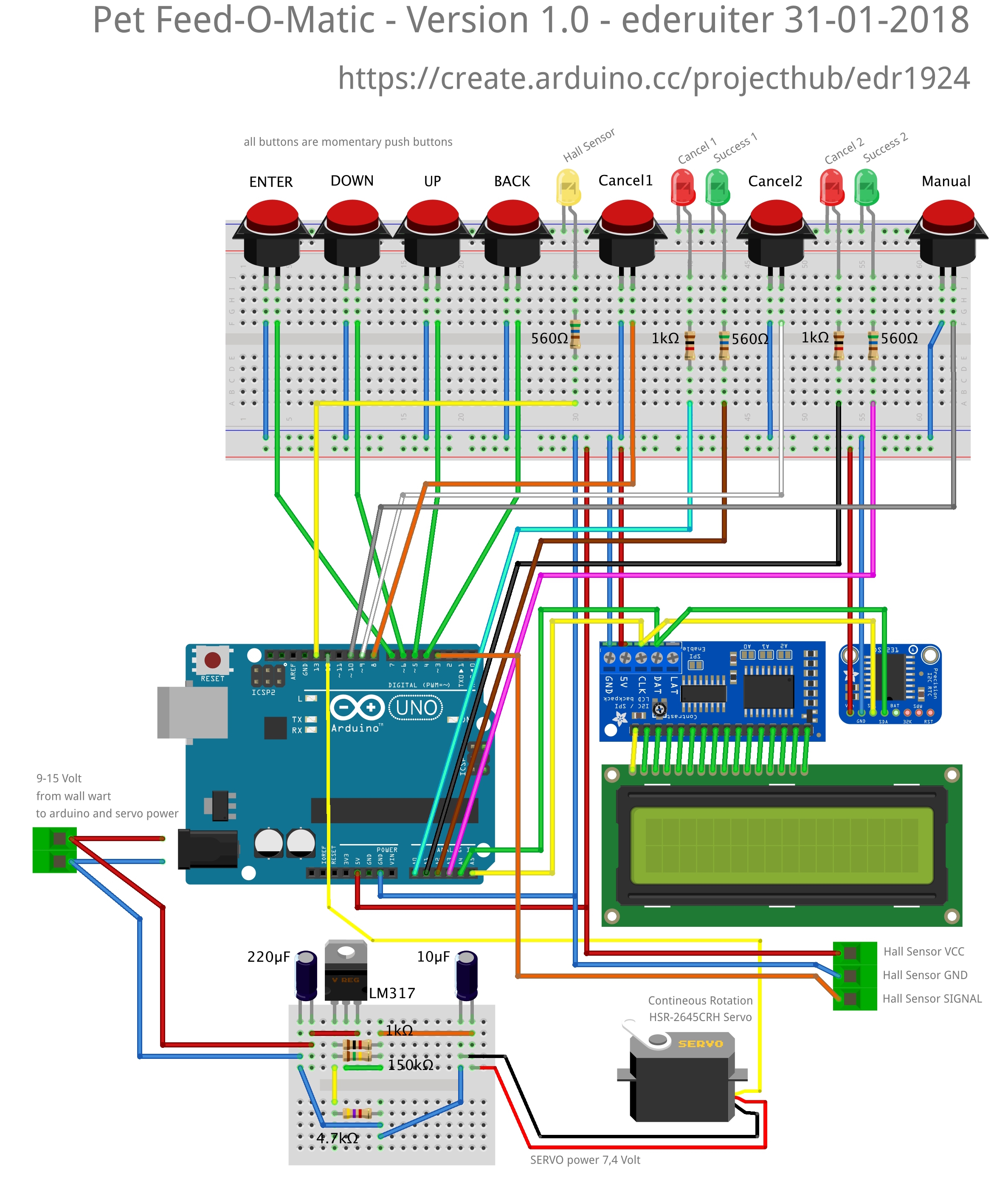 Arduino And Ds3231 Real Time Clock Circuit Schematics Uno Based Easy To Build Pet Feeder Feed O Matic Schematic V Wun9ik8mk7