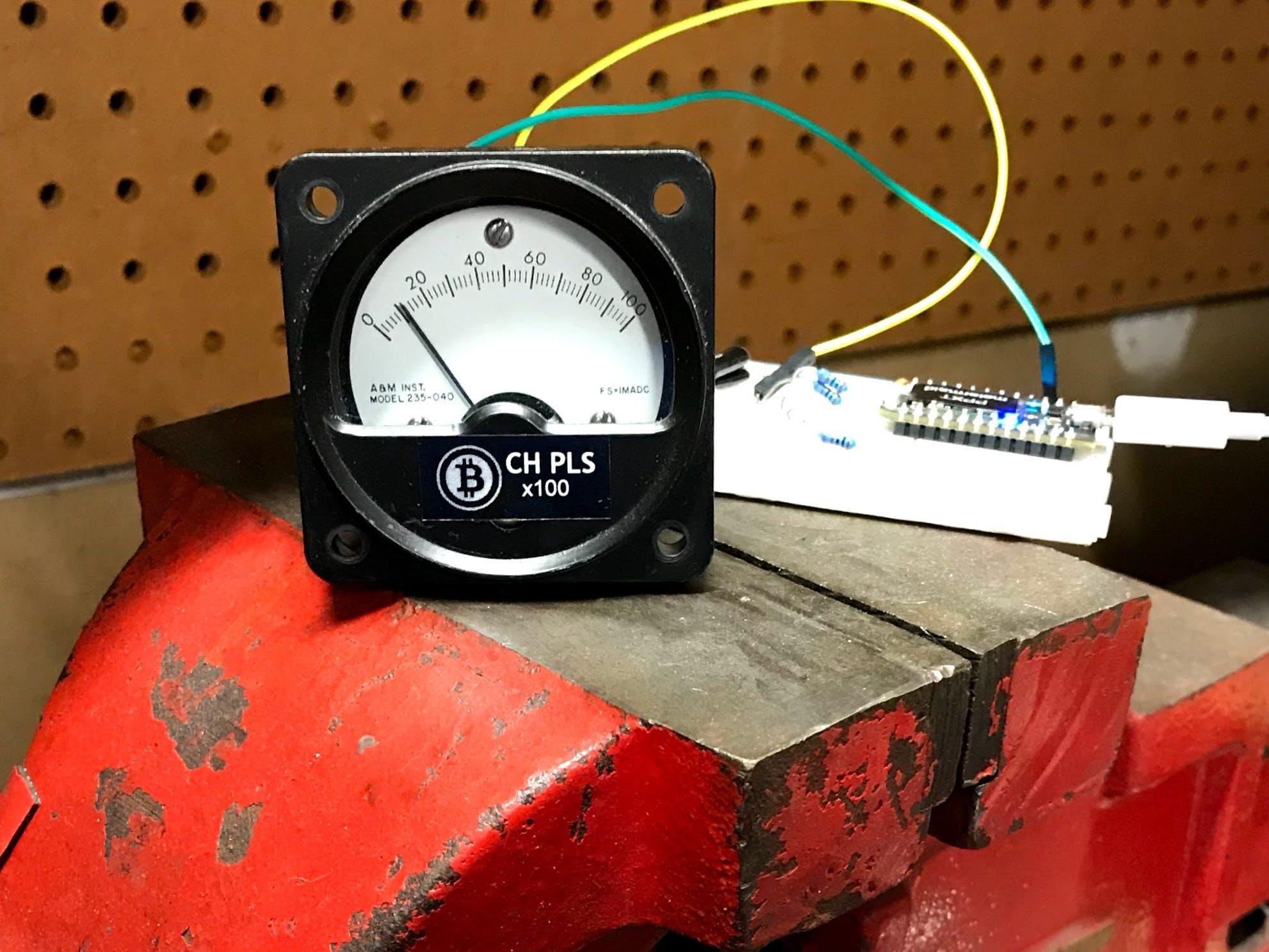 BCH PL$ - A Retro Analog Bitcoin Cash Meter
