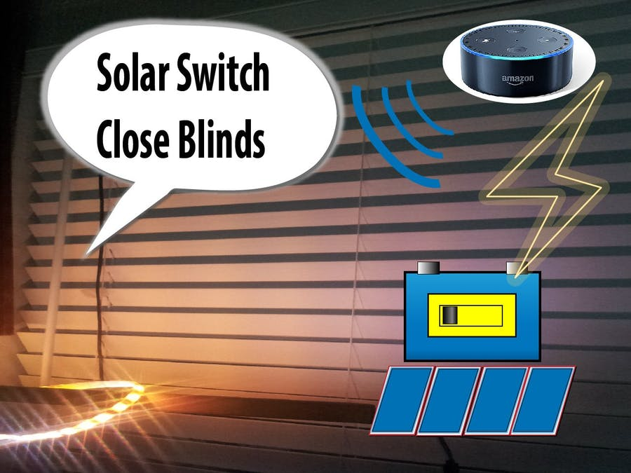 Solar Battery Powered Switch for Blinds, Lights, and Charger