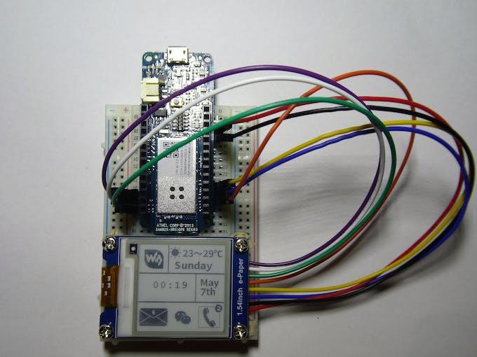 Testing the e-paper module setup
