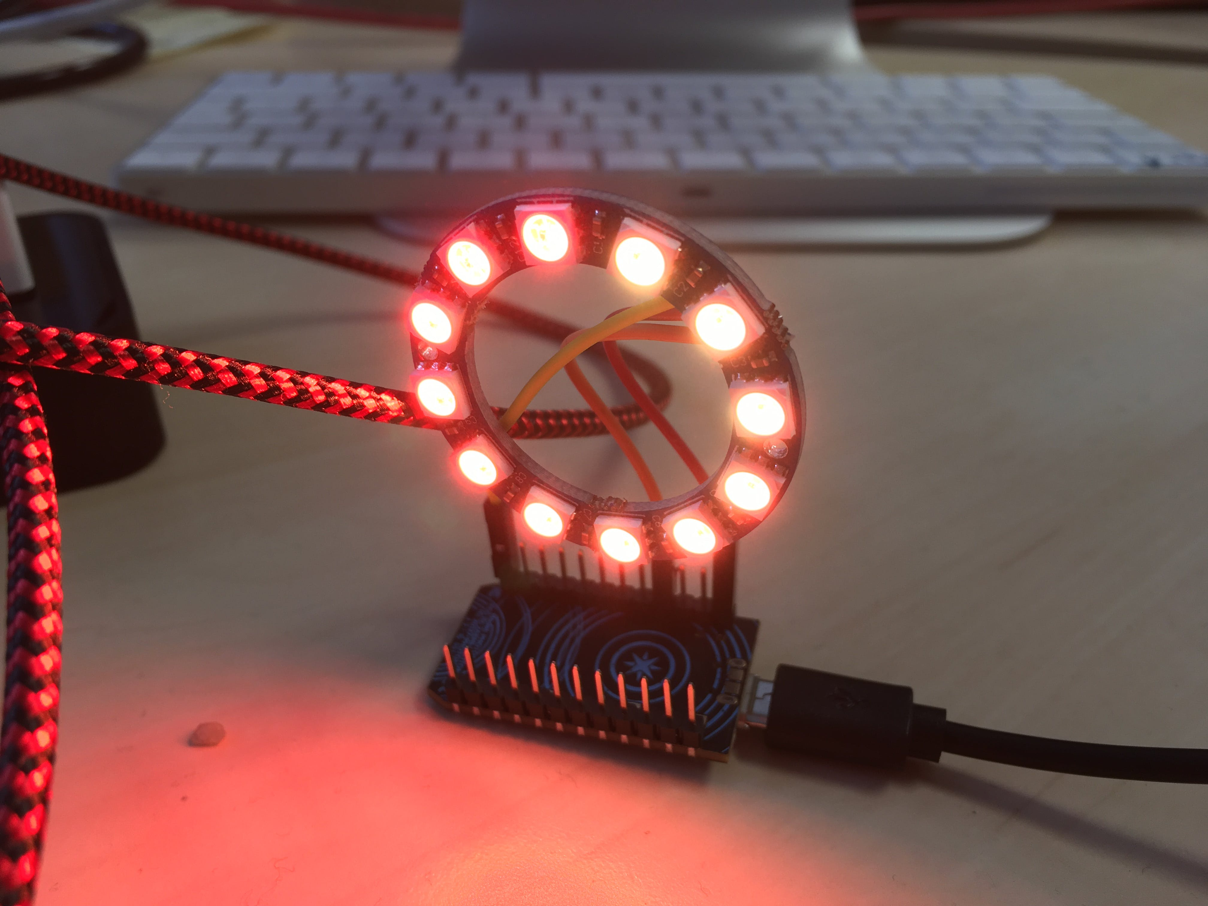 Trying the LED ring that just arrived in the mail