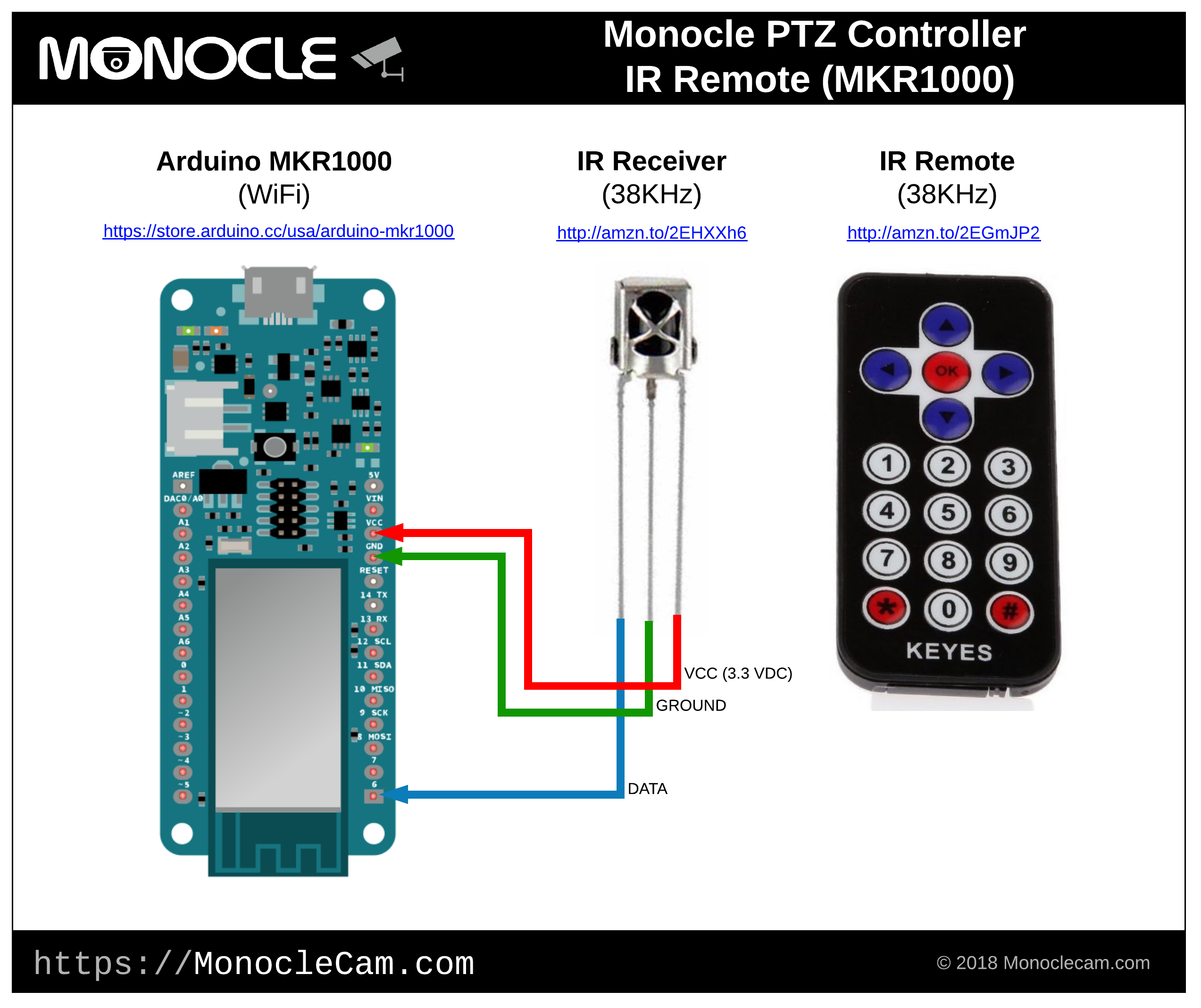 Monocle View Control Ip Cameras With Alexa Arduino Ptz Camera Controller Wiring Diagram Get Free Image About