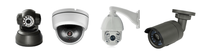 IP cameras must support RTSP/RTP and H264 for viewing and ONVIF for control