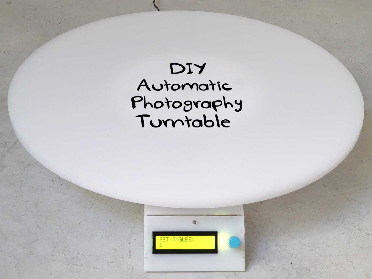 Automatic 360° Photography Turntable