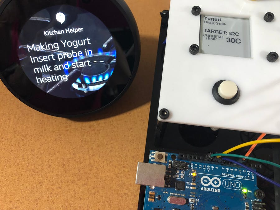 Alexa BBQ/Kitchen Thermometer with IoT Arduino and e-Paper