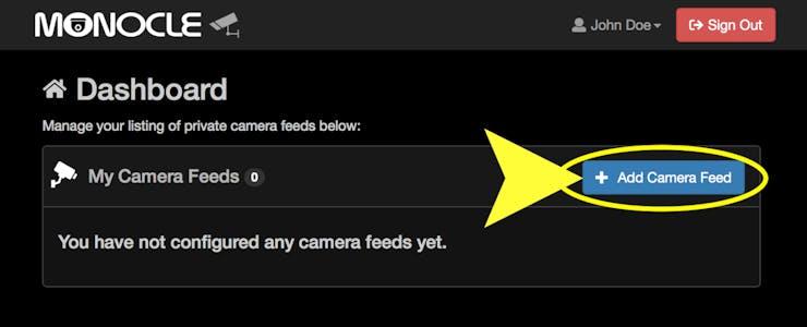 Monocle: View & Control IP Cameras with Alexa & Arduino