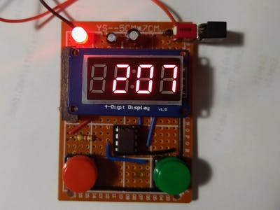 Stopwatch with ATtiny13 and TM1637 LED Module