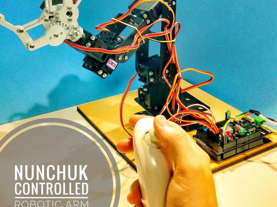 Nunchuk Controlled Robotic Arm (with Arduino) - Hackster io