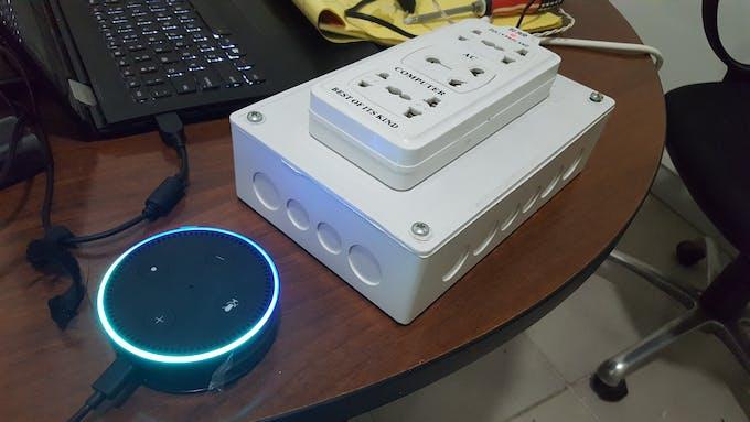 Smart socket with Amazon Echo Dot