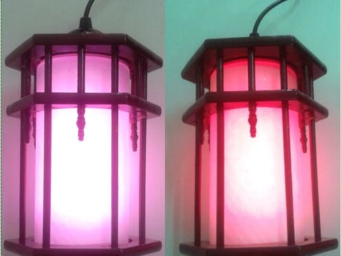 Voice Controlled RGB Lamp
