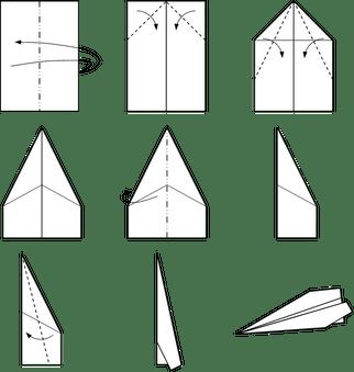 Simple Paper Plane Model - 6.5 x 8 cm approx.