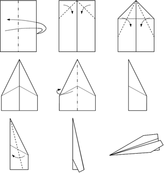 Simple Paper Plane Model - 6.5 x 8 cm approx.