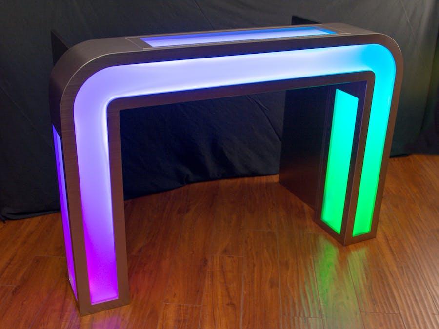 Illuminated DJ Table