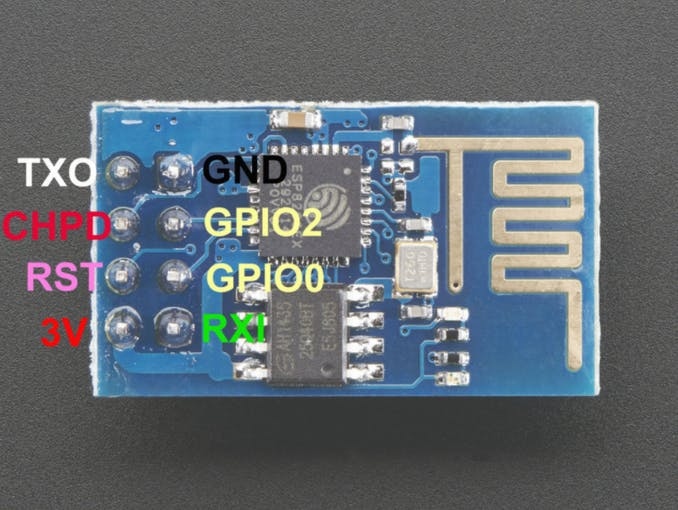 ESP8266 Pinout from Product Page