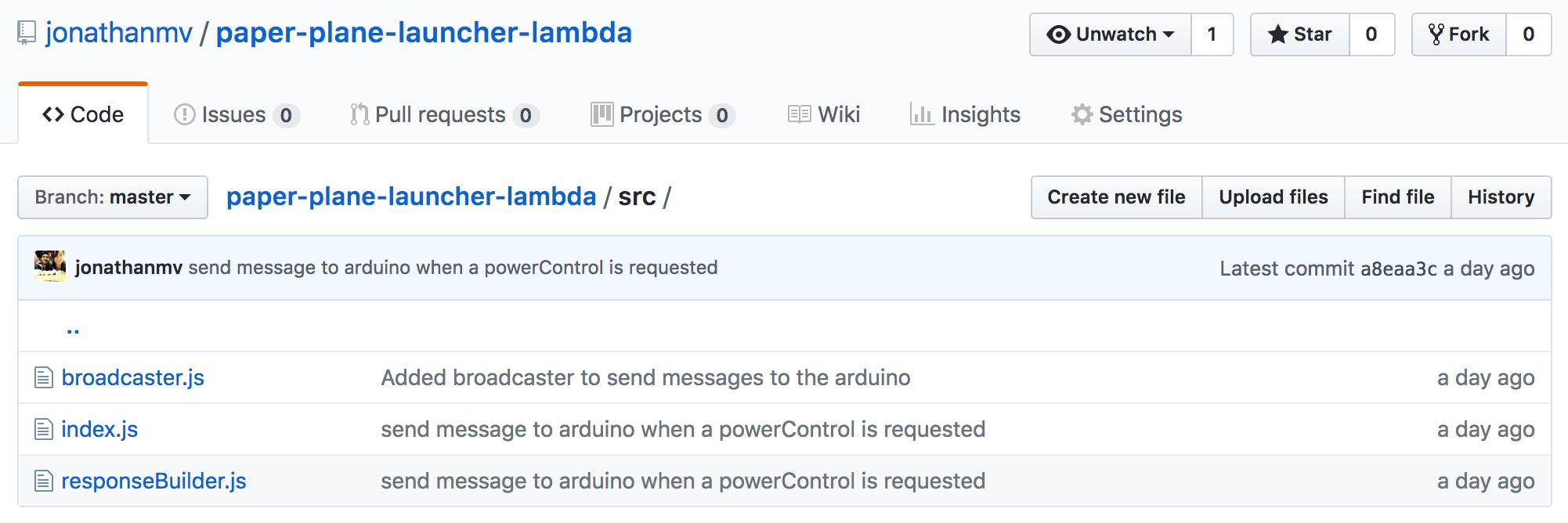 Just three files compose the lambda