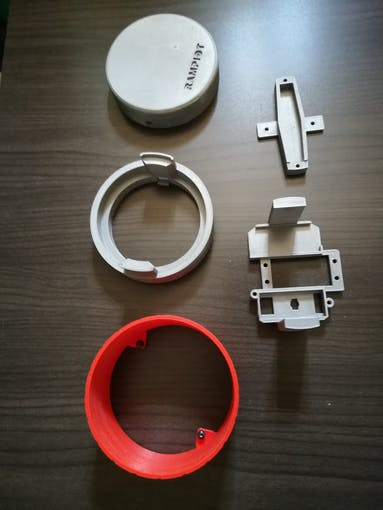 Printed parts - PLA  - Layer 1.4