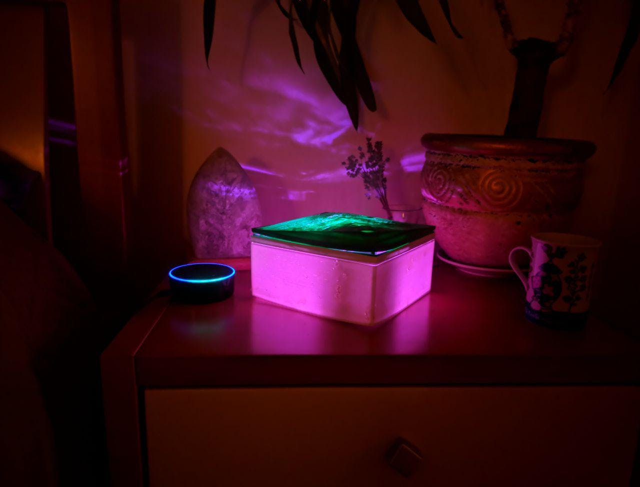 DIY Air Humidifier with Backlight Controlled by Alexa