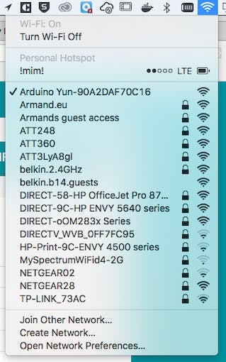 Power up and connect to YÚN wifi network ( if messed it up you can reset it byt pressing the wlan reset btn on the side for 5 -soft reste- or 30 -factory reset- seconds )