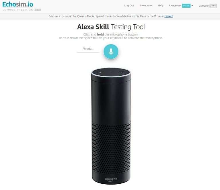 Test your skill on https://echosim.io
