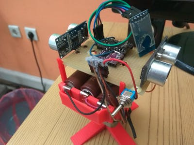Arduino Two Ultrasonic Sensor Radar - Continuous Rotation
