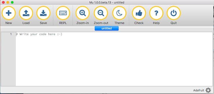 Mu editor screen grab. Source: Adafruit