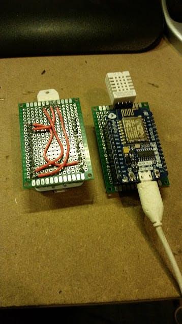 Fig 1: Original DHT22 remote sensor