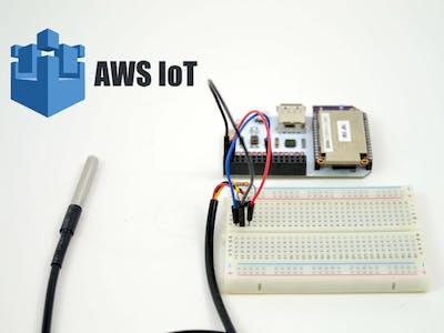Omega2 AWS IoT Temperature Sensor Monitor