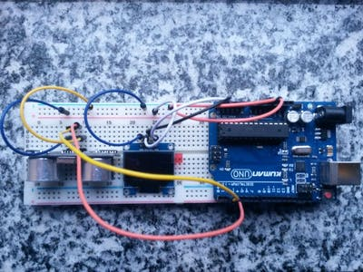Arduino : OLED distance