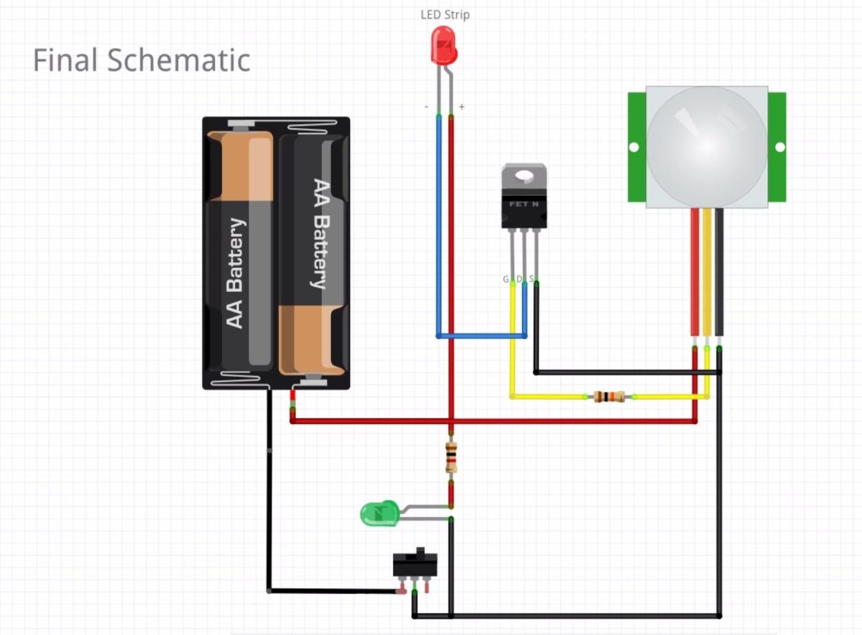 Motion Detector Wiring Schematic