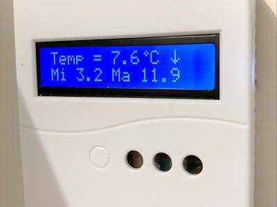 Outside Thermometer with Trend, Max and Min Temperature