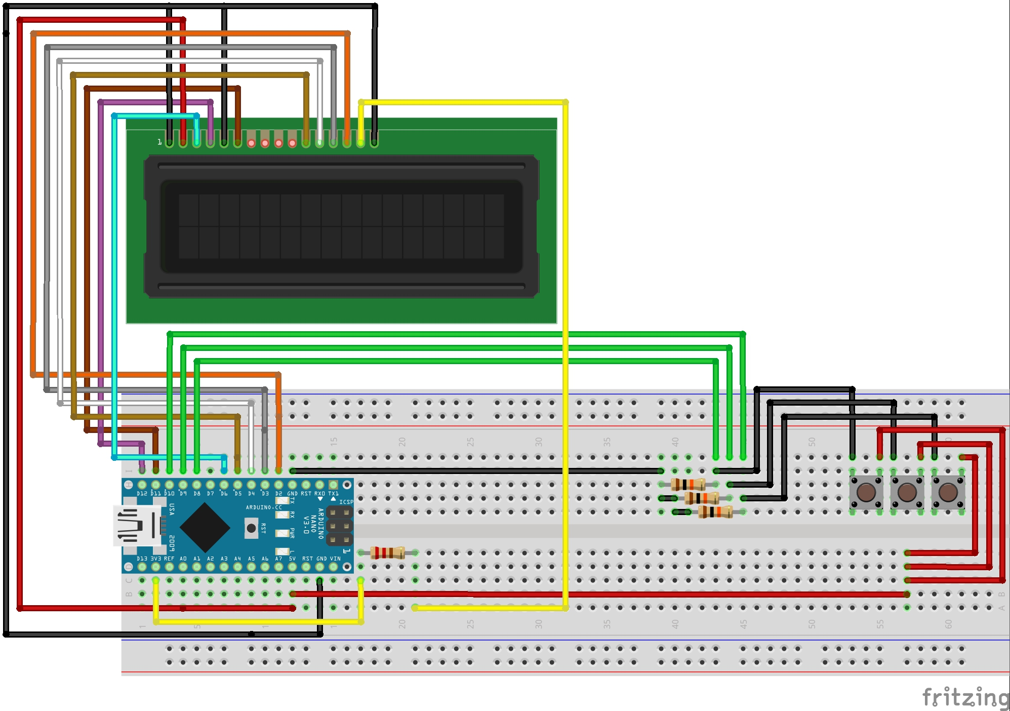 Arduino Nano LCD Stopwatch Without Potentiometer - Hackster io