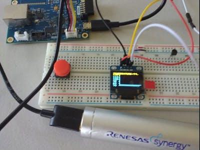 Renesas AE-CLOUD1 Temperature Display