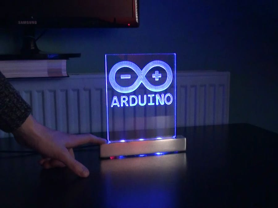 Making an Arduino Touch Sensitive LED Sign