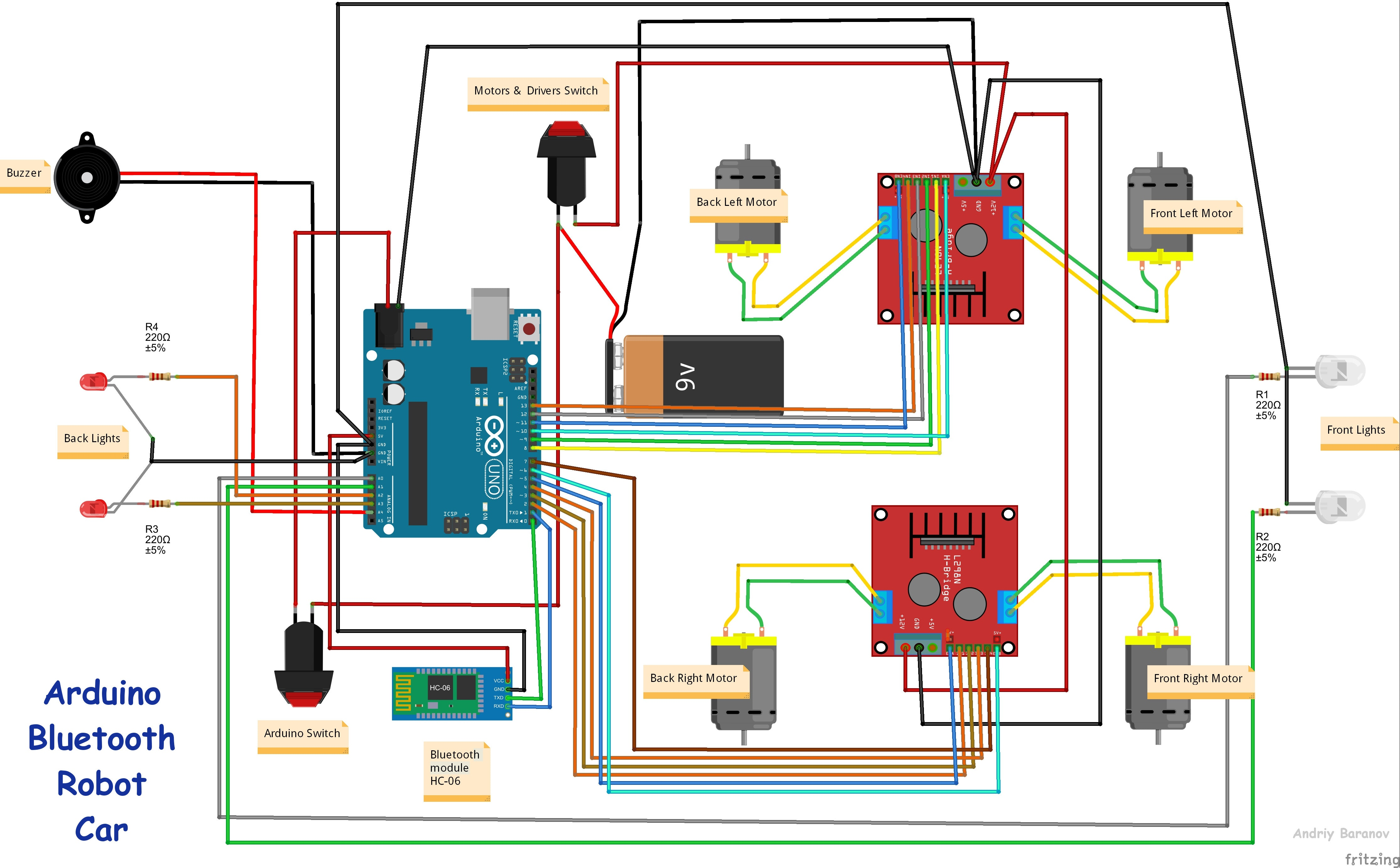 android apps controlled arduino robot car hackster io rh hackster io Basic Car Wiring Diagram Basic Car Wiring Diagram