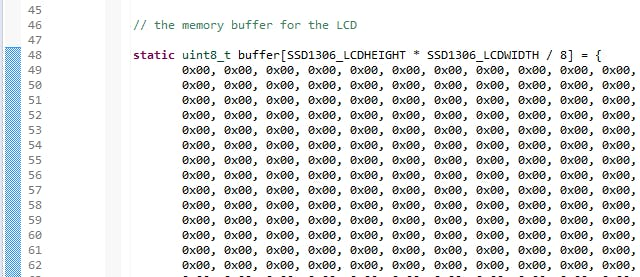 bitmap data array in ssd1306_oled.c