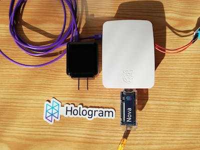 Remote Temperature & Humidity Monitoring Using Hologram & Pi