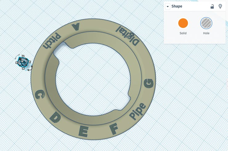 Creating holes in Tinkercad