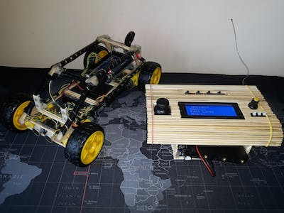Car with Radio - LCD Remote Control