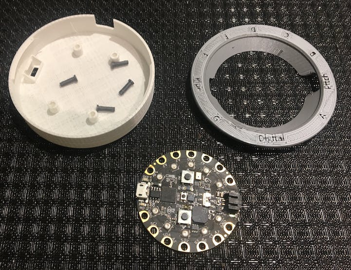 3D printed parts and Circuit Playground Express