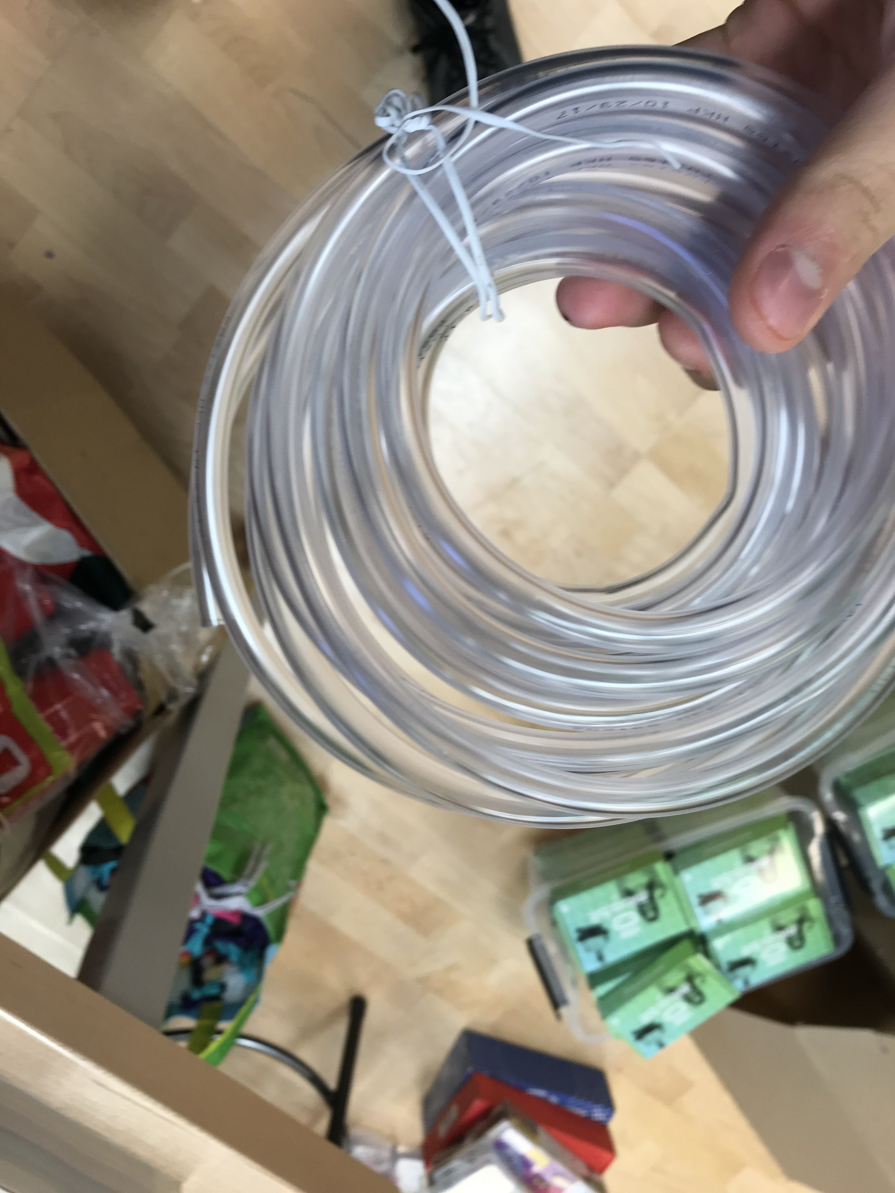The tubing i chose for the water pump