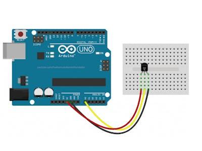 Using A Temp Sensor With Arduino TMP36 Temperature Sensor