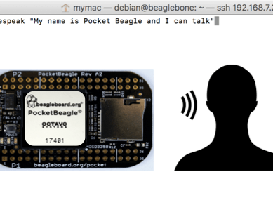 Adding Text-to-Speech to PocketBeagle Projects