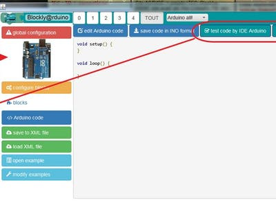Plugin Blockly@rduino for Arduino IDE