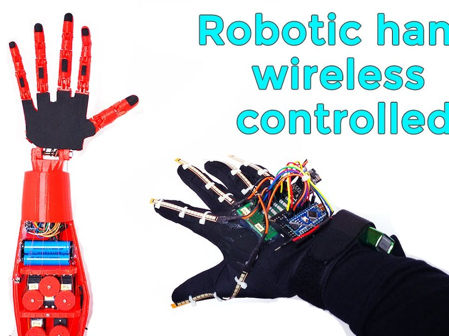 Robotic Hand with Wireless Glove Controlled | Arduino